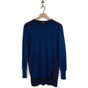 J.Crew Colorblock Sweater Tunic XS Blue